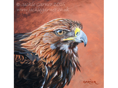 Golden Eagle, painting in acrylics